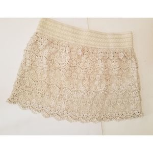 🎁 American Rag Cream Knit Skirt Size L